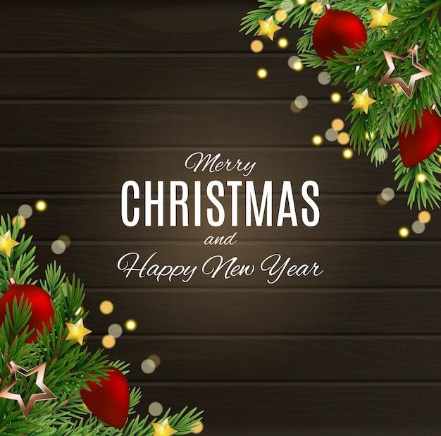 Wesołych świąt i szczęśliwego nowego roku plakatów. ilustracja