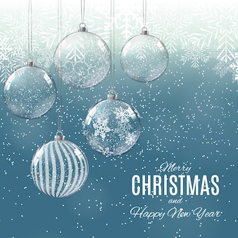 Wesołych świąt I Szczęśliwego Nowego Roku Plakatów Premium Wektorów