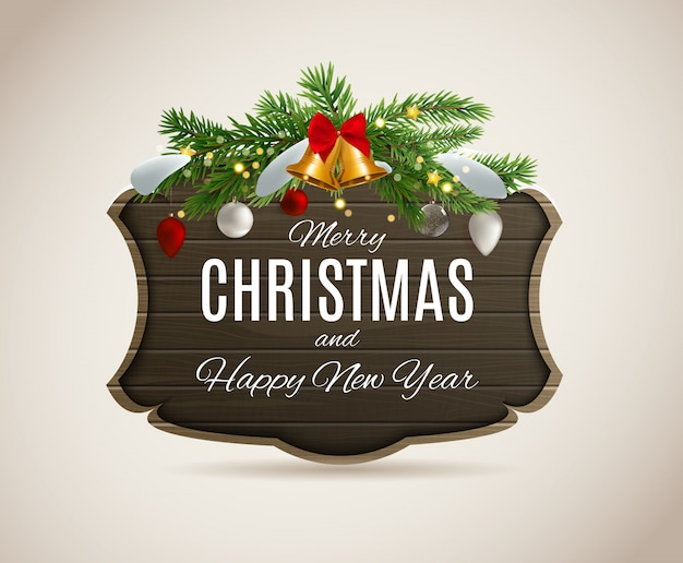 Wesołych świąt i szczęśliwego nowego roku plakatów.
