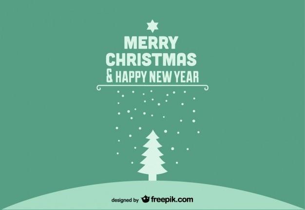 Wesołych świąt i szczęśliwego nowego roku pocztówka zielony