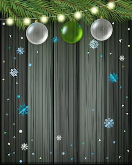 Wesołych świąt i szczęśliwego nowego roku powitanie karta.