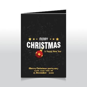 Wesołych świąt i szczęśliwego nowego roku szablon plakat