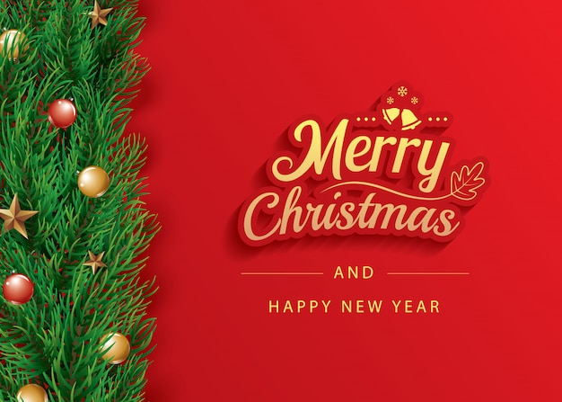 Wesołych świąt i szczęśliwego nowego roku szablon transparent karty z pozdrowieniami.