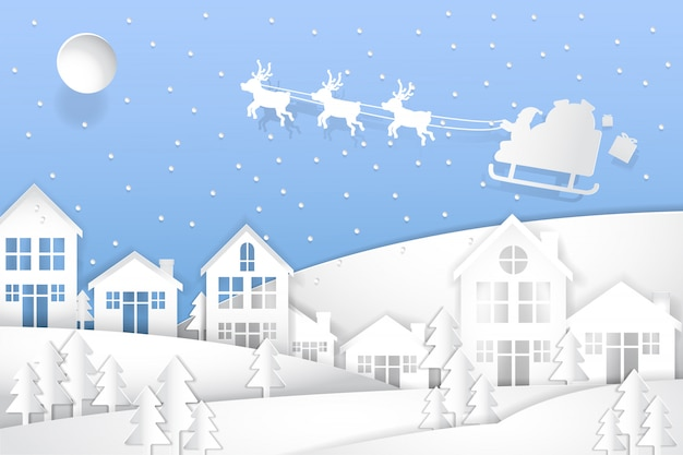 Wesołych świąt i szczęśliwego nowego roku, sztuka papierowa
