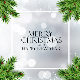 Wesołych świąt i szczęśliwego nowego roku tło. ilustracja