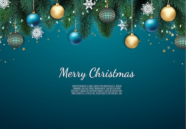 Wesołych świąt i szczęśliwego nowego roku tło