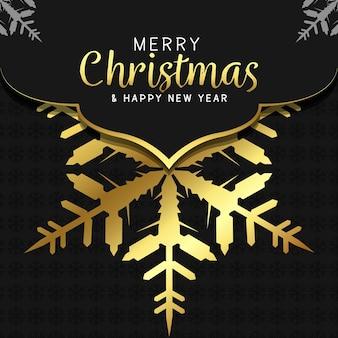Wesołych świąt i szczęśliwego nowego roku w tle luksusowe tło mandali ze złotą arabeską