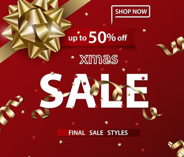 Wesołych świąt i szczęśliwego nowego roku wzór banerów sprzedaży koncepcja sprzedaży ilustracja wektorowa