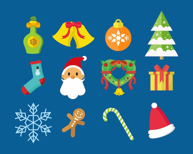 Wesołych świąt icon pack