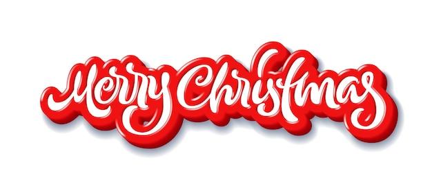 Wesołych świąt kaligraficzne napis handdrawn