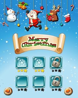 Wesołych świąt na szablonie gry