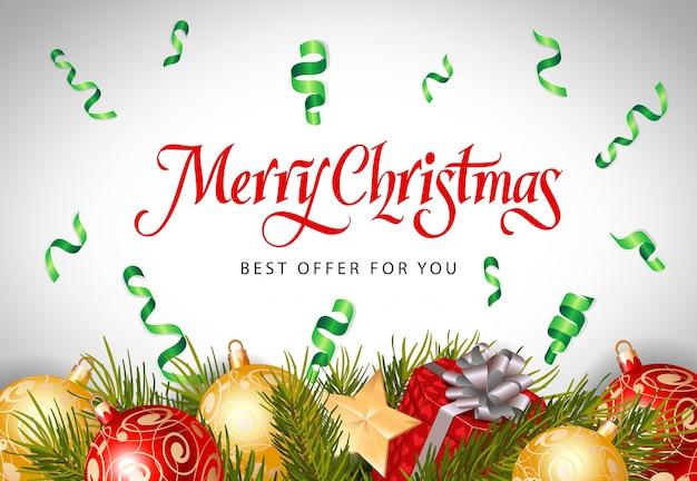Wesołych świąt najlepsza oferta napis