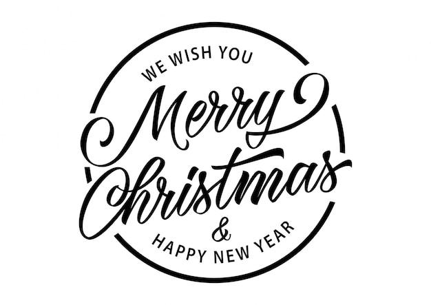 Wesołych świąt napis w okręgu