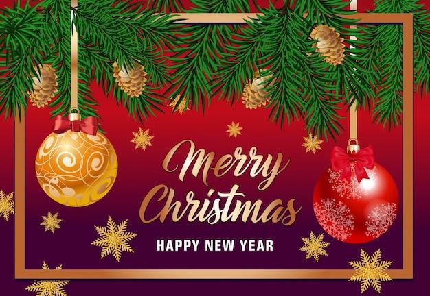 Wesołych świąt napis w ramce