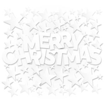 Wesołych świąt napis z gwiazdami