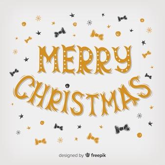Wesołych świąt napis z muszkami