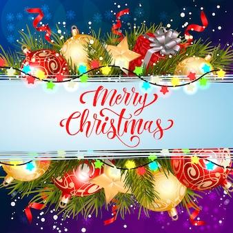 Wesołych świąt napis z oświetleniem