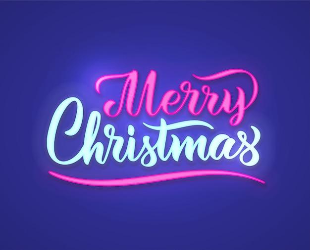 Wesołych świąt neon tekst znak