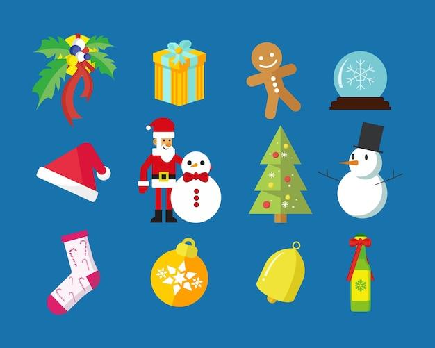 Wesołych świąt pakiet graficzny