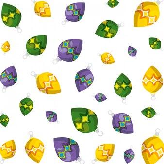 Wesołych świąt piłek dekoracyjny wzór