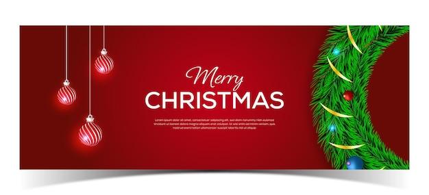 Wesołych świąt projekt banera z miejscem na tekst