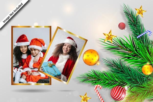 Wesołych świąt projekt ramki na zdjęcia w duecie