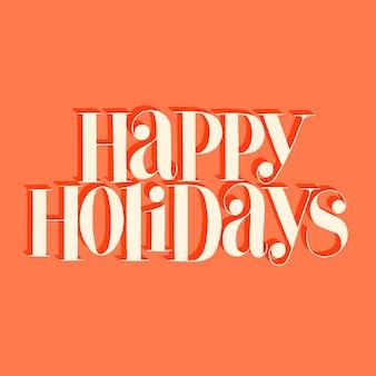 Wesołych świąt ręcznie rysowane napis cytat na czas bożego narodzenia. tekst do mediów społecznościowych, druku, koszulki, karty, plakatu, upominku promocyjnego, strony docelowej, elementów projektowania stron internetowych. ilustracja wektorowa