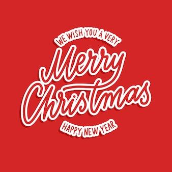 Wesołych świąt - ręka wektor napis.