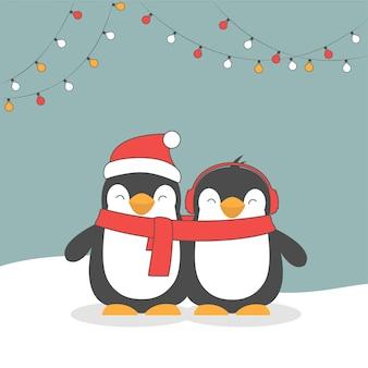 Wesołych świąt śliczne pingwiny.