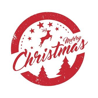 Wesołych świąt świąteczny projekt znaczka na listy lub prezenty świąteczny element dekoracyjny