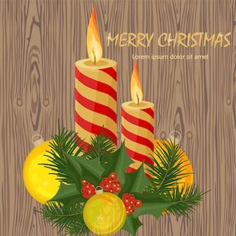Wesołych świąt świec. święta tła
