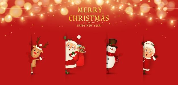 Wesołych świąt szczęśliwego nowego roku funny santa claus