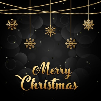 Wesołych świąt tło złote i czarne collors