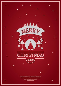 Wesołych świąt typografia plakat projektkartka z życzeniami lub zaproszenie i życzenia świąteczne