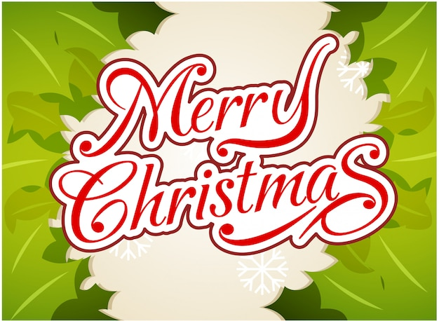 Wesołych świąt typografia tło