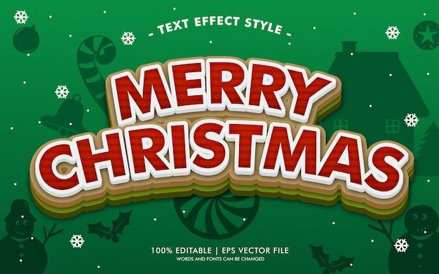 Wesołych świąt w stylu efektów tekstowych