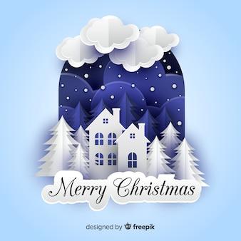 Wesołych świąt w stylu papierowym