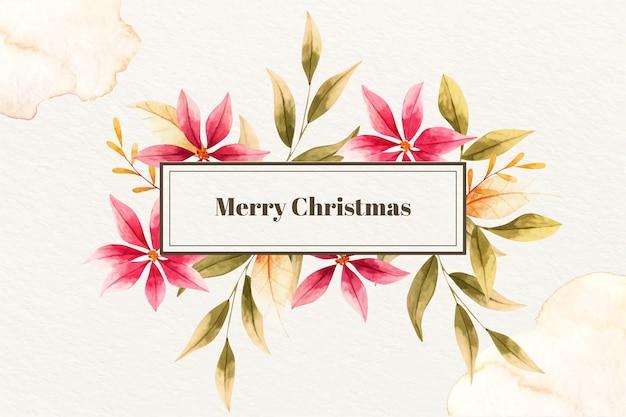 Wesołych świąt w stylu przypominającym akwarele
