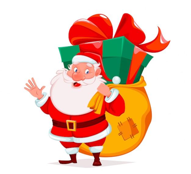 Wesołych świąt, wesoły święty mikołaj