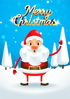 Wesołych świąt! wesołych świąt święty mikołaj