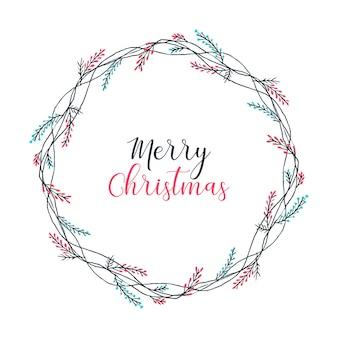 Wesołych świąt wieniec