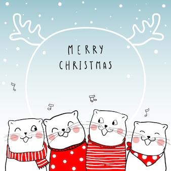 Wesołych świąt z cute cat