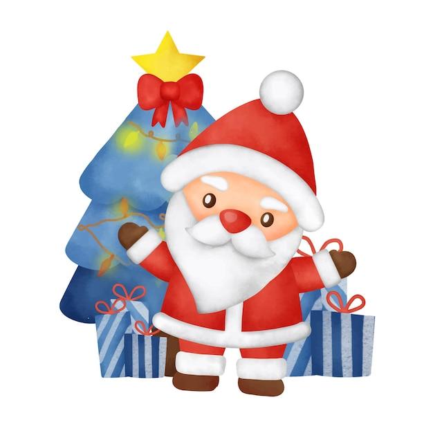 Wesołych świąt z elementami mikołaja i bożego narodzenia