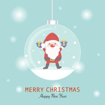 Wesołych świąt z kartą świętego mikołaja