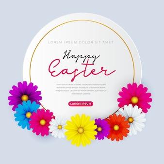 Wesołych świąt z pięknymi wiosennymi kwiatami. skopiuj miejsce na tekst.