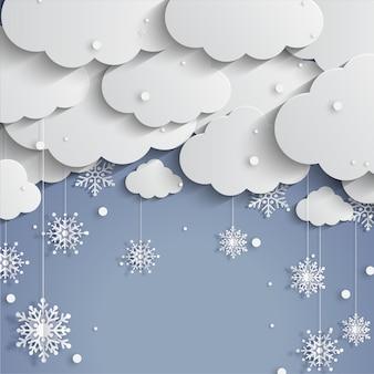 Wesołych świąt z płatkiem śniegu
