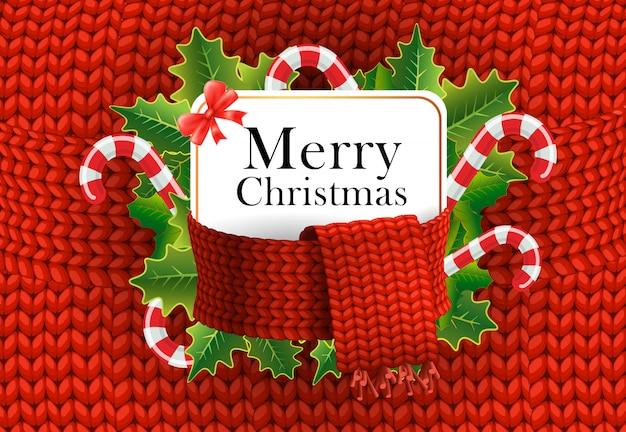 Wesołych świąt z pozdrowieniami projekt. laski cukierków