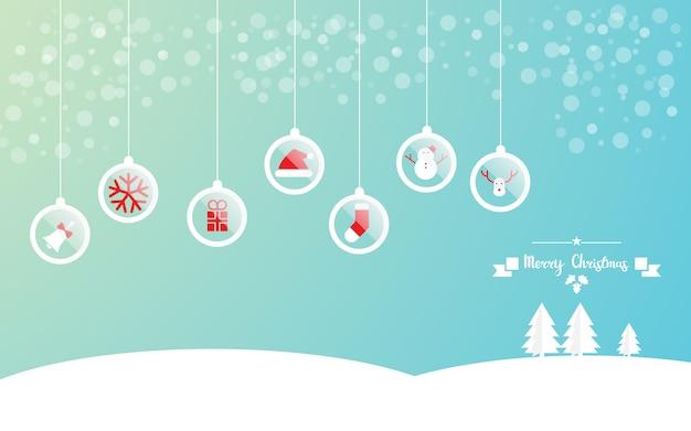 Wesołych świąt z tłem dekoracji