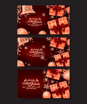 Wesołych świąt z życzeniami i zaproszenia na przyjęcie luksusowe tło