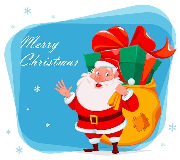 Wesołych świąt z życzeniami z mikołajem